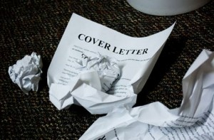 Cover letters by a bin